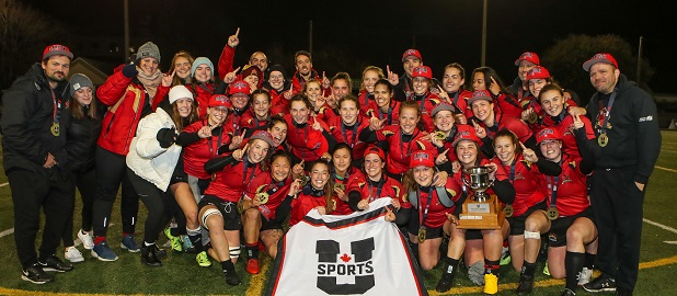 Rubgy Rouge et Or championnes canadiennes