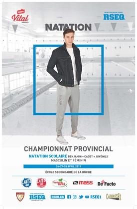 Championnat provincial scolaire invitation de natation 2019, présenté par Vital